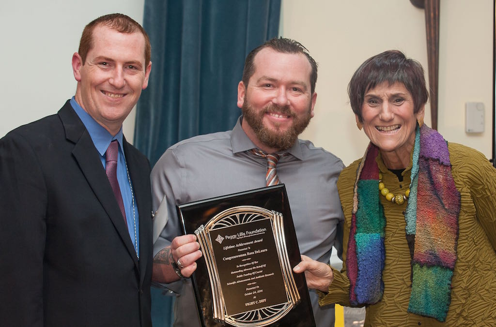 Christian and Liam with Rep. Rosa De Lauro