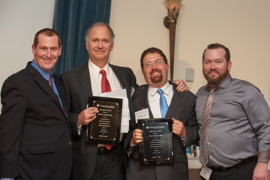 Christian and Liam with Dr. Bruce Hirsch and Dr. Gerard Honig