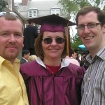 Peggy with Christian and Liam at her graduation from Brooklyn College