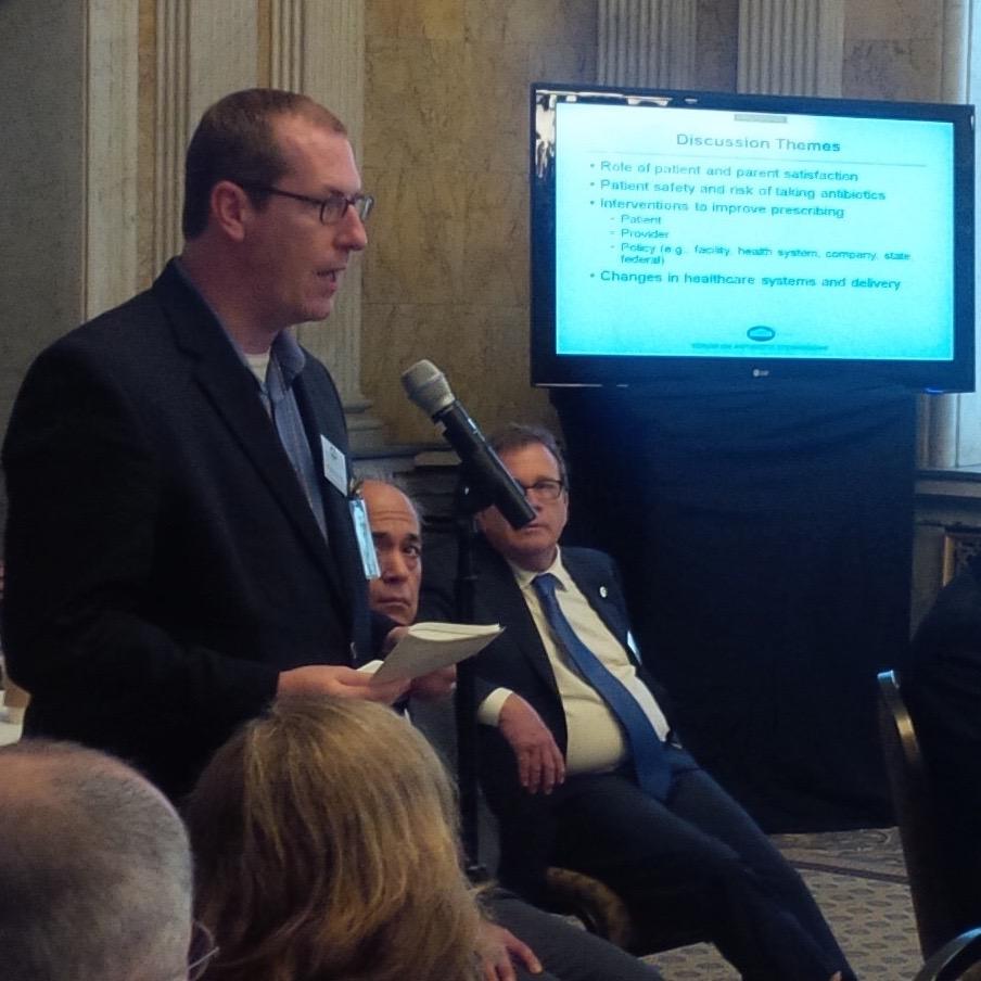Christian at the White House Forum on Antibiotic Stewardship