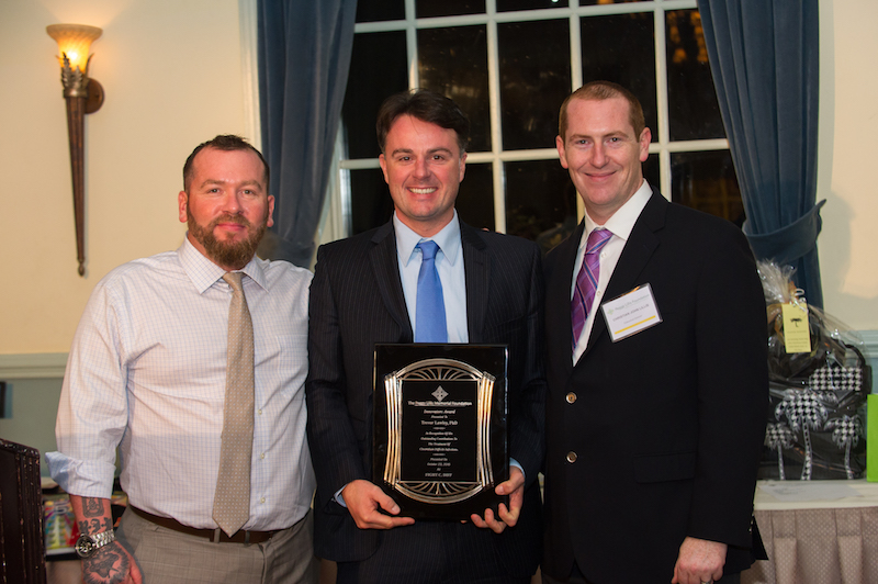Dr. Trevor Lawley (center) with PLF Co-founders Christian and Liam