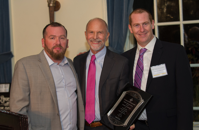 Dr. Lawrence J. Brandt (center) with PLF co-founders Christian and Liam