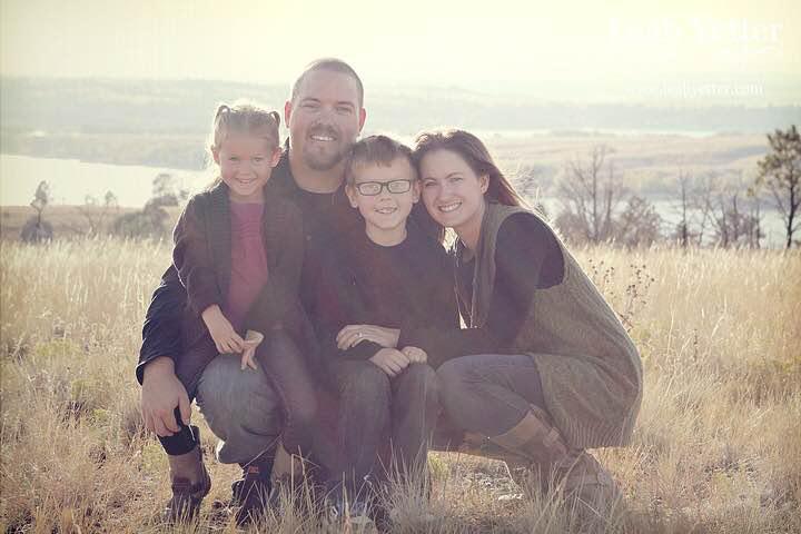 Sara Ingram with her family