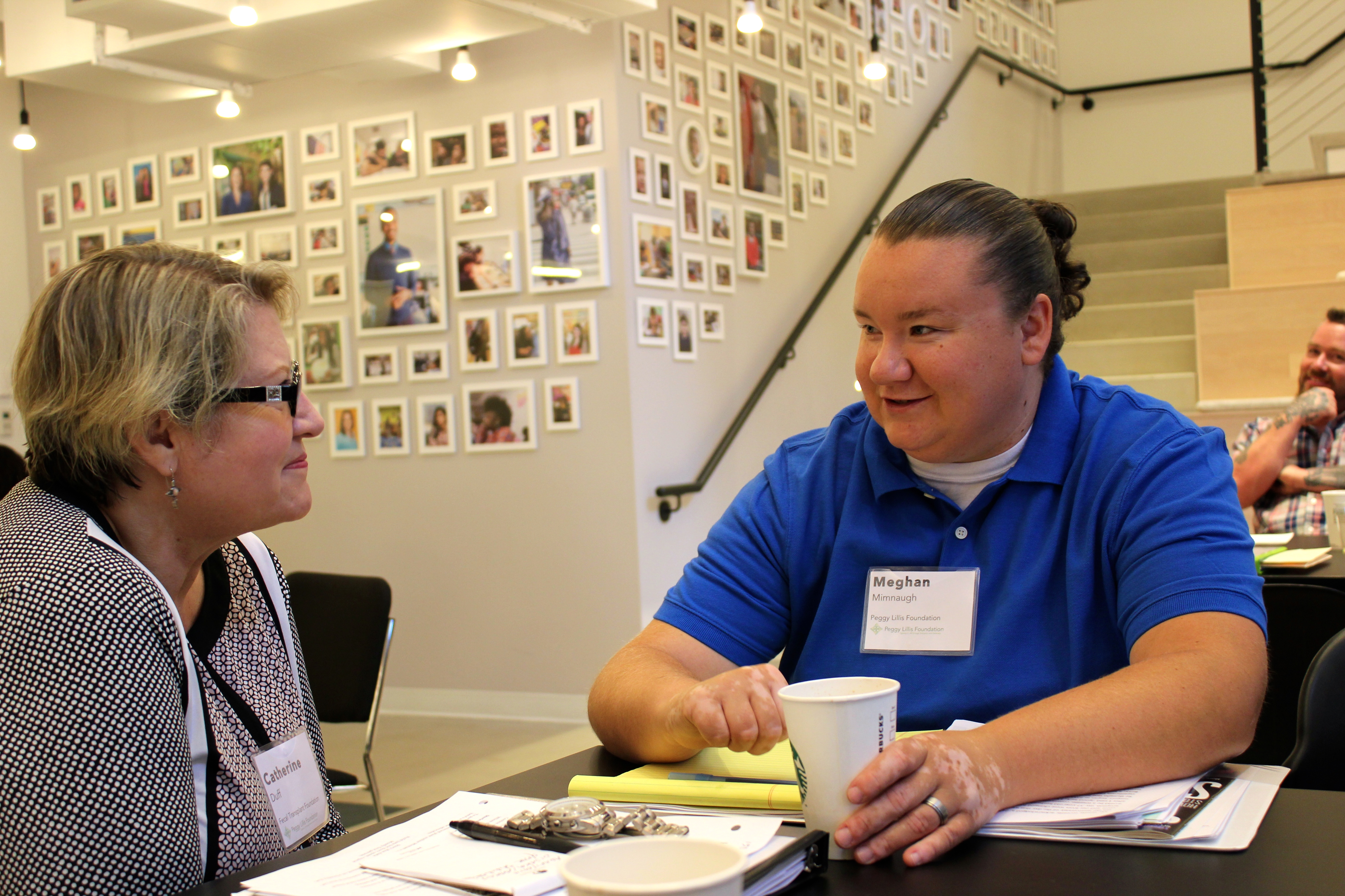 Meghan (right) with fellow Advocate Catherine Duff at PLF's 2015 Summit