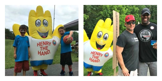 Aiden and Ellie as Henry the Hand
