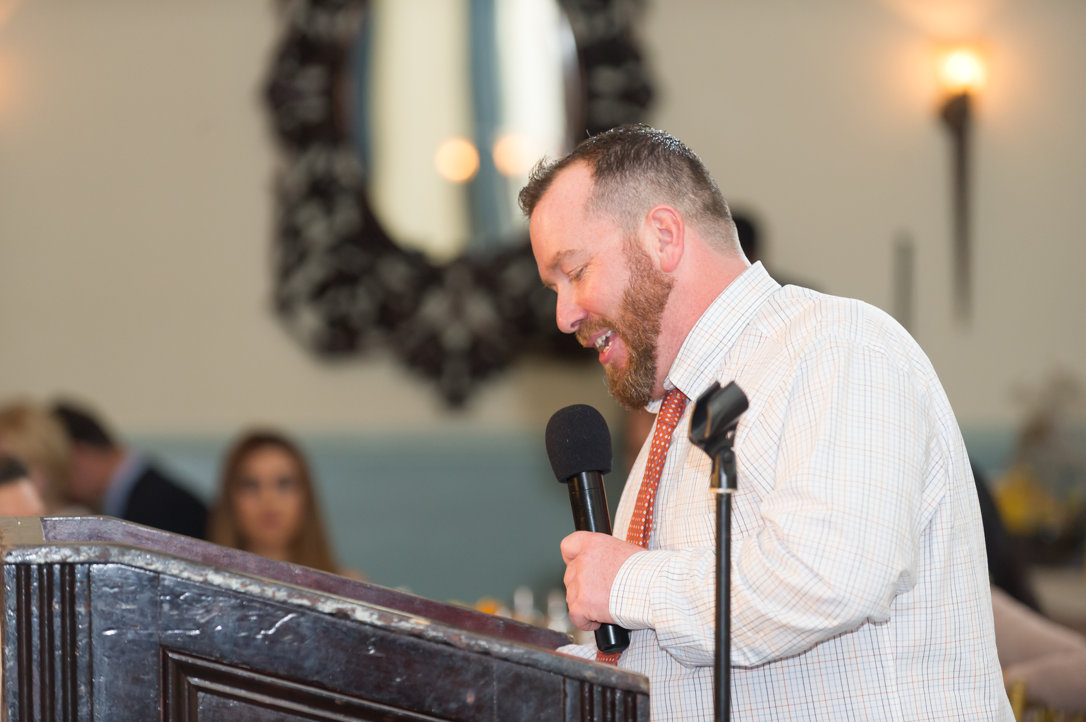 Liam Lillis gives the welcome speech at the 7th Annual FIGHT C. DIFF Gala
