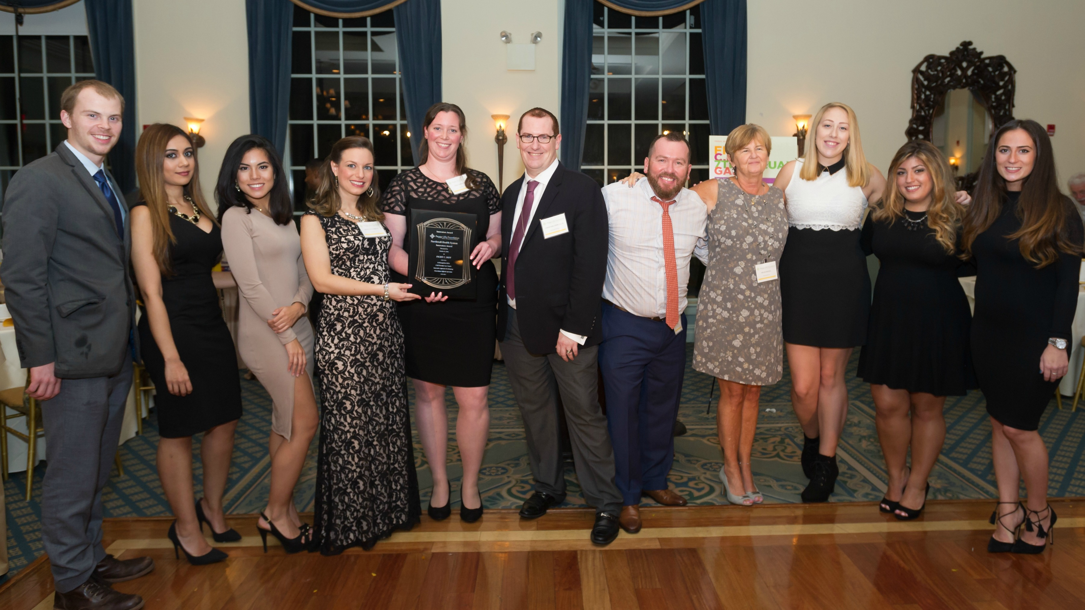 Northwell Health CDIFFerently Care Team accepting the Innovators Award