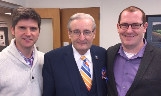 PLF Strategic adviser Hans Johnson with Senator Kenny Yuko and Christian